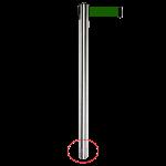 Separador Aço Inox 63x845