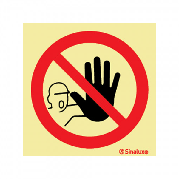 Placa Entrada Proibida